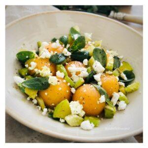 salade_melon_feta_pourpier_fenouil_courgettes_huile_chanvre_ysabelle_levasseur_auteure_culinaire